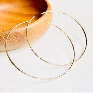 1 14KGF Bangle Delicate Thin Open Bracelet Cuff